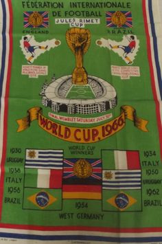 1966 England vs West Germany world cup final souvenir programme with 4 ticket stubs, 2 for the 1966 World Cup Final, Retro Football, Football Team, World Winner, Football Images, Football Memorabilia, England Football, Sports Art, Fifa