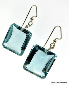 Blue Green Topaz Earrings