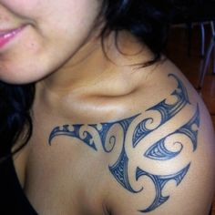 blue tattoos | Cool Blue Maori Tattoo Design for Girls | Cool Tattoos #polynesian #tattoo