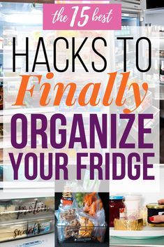 Ready to finally get that fridge organized? These tips will help you finally organize your refrigerator. Tons of DIY and dollar store hacks! Organize Your Life, Organizing Your Home, Organization Ideas, Organising, Storage Ideas, Dollar Store Hacks, Dollar Stores, Diy Cleaning Products, Cleaning Hacks