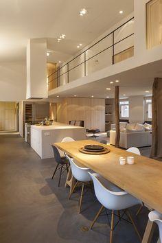 Interior Loft - Bright Idea - Home, Room, Furniture and Garden Design Ideas Modern Room, Lofts, Interior Design Living Room, Interior Architecture, Ideal Home, Kitchen Design, Living Spaces, Sweet Home, New Homes