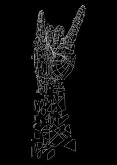 rock on- Mapping just the value shift areas in outline, maybe project image onto paper surface to do tracing. Could work for any image but it would also be neat to use idea for a series of ASL images