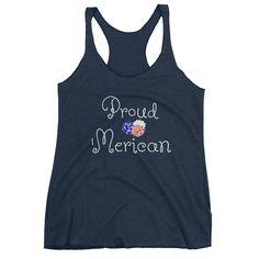 Proud 'Merican Women's Fourth of July tank top