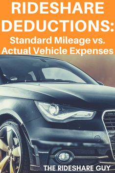 Should you deduct Standard Mileage or Actual Expenses on your Uber vehicle? Turns out that the best rideshare deductions are based on how often you drive. Uber Business, Business Checks, Uber Car, Make More Money, Extra Money, Uber Driving, Money Today, Deduction