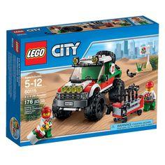 Faça parte de uma grande corrida pelo deserto com o espetacular Lego City - 4x4 Off Road.   Um veúculo incrível, com grandes rodas adaptadas para qualquer tipo de terreno.   Além disso, inclui um pneu step e um kit com diversas ferramentas para qualquer ajuste.   E para tornar ainda mais divertido, inclui uma minifigura de um experiente piloto de rally.   Lego City é um brinquedo impecável que vai proporcionar muitos momentos de alegria e diversão.