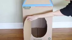 How To Make A Cardboard Rocket Ship For Your Cat Using Old Boxes | Cuteness Cardboard Crafts Kids, Cardboard Rocket, Crafts For Kids, Cardboard Boxes, Buzz Lightyear Wings, Cat Castle, Sad Cat, Cat Hammock, Fancy Cats