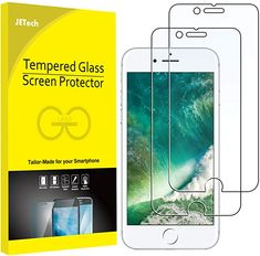 Amazon.com: JETech Screen Protector for iPhone 8 Plus and iPhone 7 Plus, 5.5-Inch, Case Friendly, Tempered Glass Film, 2-Pack: Electronics