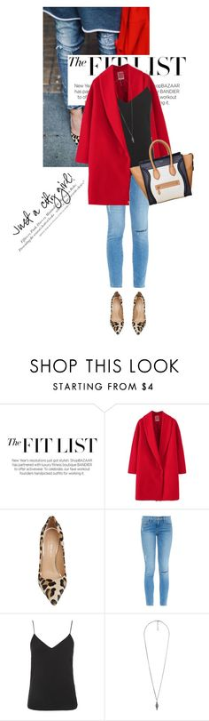 """""""Untitled #1292"""" by talita-roberto ❤ liked on Polyvore featuring Kurt Geiger, Frame Denim, H&M, Topshop, Forever 21 and CÉLINE"""