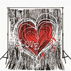 YEELE Love Anniversary Backdrop 5x3ft Valentines Day Red Hearts on Abstract Photography Background Lovers Lady Girls Photos Photobooth Props Digital Wallpaper