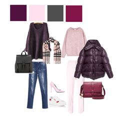 pink and eggplant