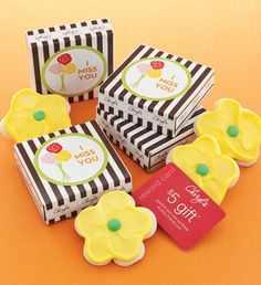Miss you cookie and card $5.00 delivered