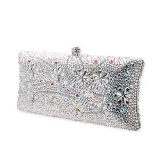 Snowflake Crystal Clutch Bag