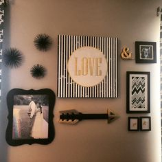 gallery wall - nearly everything is from hobby lobby except the sea urchins from target!