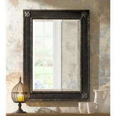"Uttermost Bergamo 38"" High Wall Mirror - #67298 | Lamps Plus"