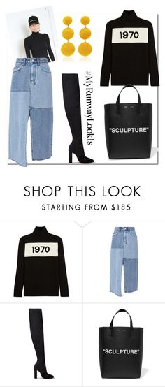 """""""1970 Sculpture..."""" by nfabjoy ❤ liked on Polyvore featuring Bella Freud, Balenciaga, Ksubi, Gianvito Rossi, Off-White, Rebecca de Ravenel and MyRunwayLookIs"""