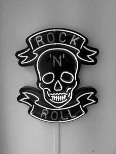 Collection: Something To Believe In rock n roll.rock n roll. Tattoo Studio, Neon Rosa, Digital Foto, Rock Poster, Estilo Rock, Pop Rock, Love Rocks, Skull And Bones, Neon Lighting