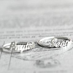 Name Ring  Personalized Sterling Silver Name Ring by bigEjewelry, $29.00