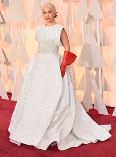 Lady Gaga let us in on her Oscars red carpet prep.