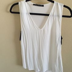Zara Top Black and white Zara tank.  No trades. Zara Tops Muscle Tees