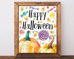 Halloween, Halloween decor, Halloween printable, Halloween print, Halloween poster, Halloween art, Happy Halloween, trick or treat, pumpkin, Halloween decoration, Halloween wall art