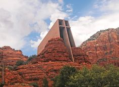 The Chapel of the Holy Cross is a church built into the red rock landscape of Sedona, Arizona, a gift from artist and philanthropist Marguerite Brunswig Staude.