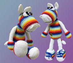 Crochet toy Amigurumi Pattern Rainbow Hippo with a por LilikSha