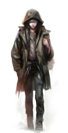 Concept art of Jodie from Beyond: Two Souls by Florent Auguy