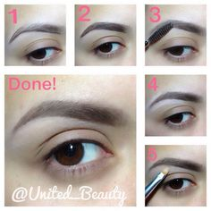 .@united_beauty | I have a little tutorial how i fill my eyesbrows #pictorial #tutorial #eyebr... | Webstagram - the best Instagram viewer
