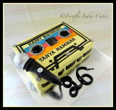 Retro MixTape.  Cake by FireflyIndia