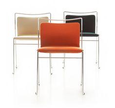 Contemporary sled-base stacking chair TULU LG by Kazuhide Takahama Cassina