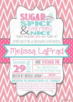 sugar and spice baby shower sugar and spice shower invites baby