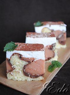 Pudingos tejfölös kocka Sweet Recipes, Cake Recipes, Tiramisu, Cheesecake, Food And Drink, Favorite Recipes, Sweets, Snacks, Cookies