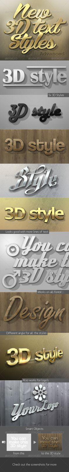 New 3D Text Styles Advanced