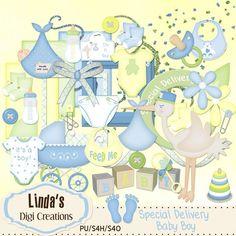 Special Delivery Baby Boy (Digi Scrap Kit)