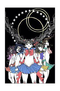 Sailor Moon print from tumblr user artoftrungles