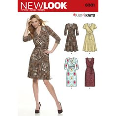 Find a pattern for Misses' Mock Wrap Knit Dress at Simplicity, plus many more unique patterns. Visit today!