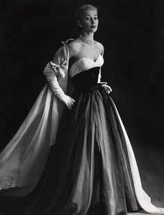 Vintage Christian Dior, photograph taken by Willy Maywald