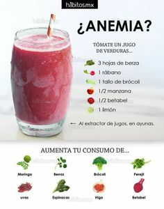 Jugo para anemia