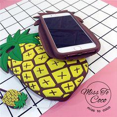 Propular Sommer frische Ananas silikon cover Handycase für Iphone5/5s/6/6s/6plus