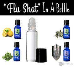 Flu shot in a bottle  *****substitute Thieves for shield