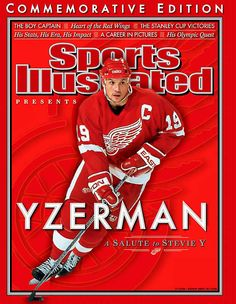 A salute to Stevie Y. Detroit Red Wings legend Steve Yzerman, three-time Stanley Cup winner and Olympic gold medallist. Detroit Hockey, Detroit Sports, Hockey Mom, Detroit Tigers, Hockey Stuff, Sports Teams, Detroit Red Wings, State Of Michigan, Detroit Michigan