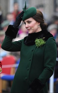 Kate Middleton Photos - Catherine, Duchess of Cambridge attends and presents the 1st Battalion Irish Guardsmen with shamrocks during the annual Irish Guards St Patrick's Day Parade at Cavalry Barracks on March 17, 2018 in Hounslow, England. - The Duke And Duchess Of Cambridge Attend The Irish Guards St Patrick's Day Parade