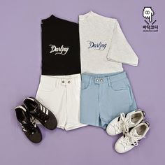 Korean Fashion Set: Twin Look  데일리룩 트윈패션   (Click on image for larger picture)                                                           ...