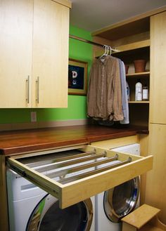 1)Drying Rods in a Drawer - Could place up high?  2)Like Shelves at end of rod for cabinet design...
