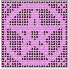 Filet Crochet: Crochet Filet Pentagram Free Pattern Chart Graph Symbol Wicca Pagan Altar Cloth Doily