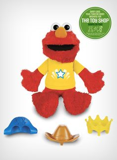 Their favourite Sesame Street character can join in on the fun! The kids will want the 'Let's imaging Elmo' plush toy at every play date