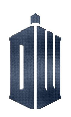 New Dr Who logo cross stitch pattern pdf file. $4.00, via Etsy.