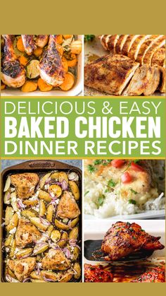 Healthy Eating Recipes, Yummy Recipes, Great Recipes, Easy Baked Chicken, Baked Chicken Recipes, Entree Recipes, Dinner Recipes, Different Chicken Recipes, Buck Deer