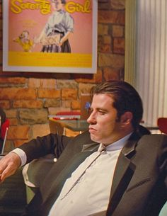"John Travolta in ""Pulp Fiction""."