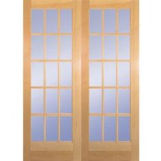 Builder's Choice, 60 in. x 80 in. 15 Lite Clear Wood Pine Prehung Interior French Door, HDCP151550 at The Home Depot - Mobile